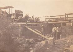 Stavba mostu přesKornatický potok